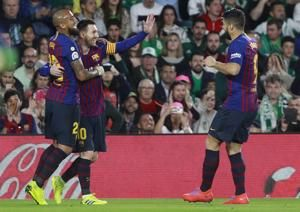 Rival fans cheer as brilliant Messi scores 3 for Barcelona