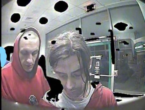 Men who robbed victim at knifepoint near ATM sought