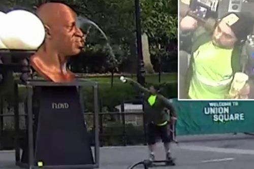 Skateboarder arrested for vandalizing George Floyd statue in Union Square