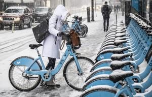 A cold bike ride in Chicago