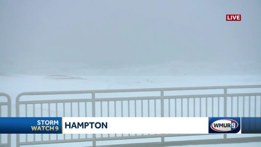 Wintry precipitation, gusty winds at Hampton Beach