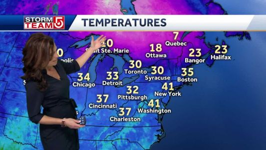 Video: Colder air returns