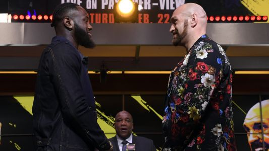 Tyson Fury sees 'very nervous' Deontay Wilder as pair almost come to blows