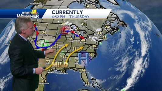 Cold Thursday night, isolated showers Friday