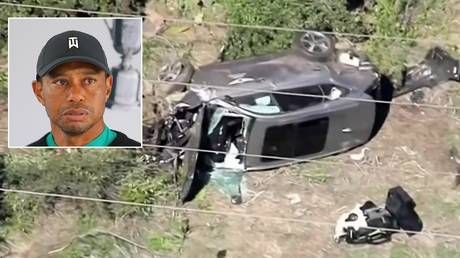 Tiger Woods 'was speeding at up to 87mph' before horror crash, police reveal