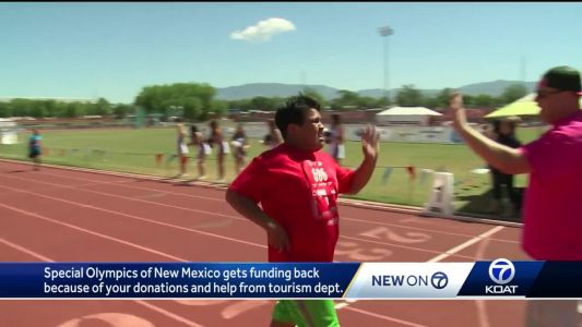 Special Olympics New Mexico gets funding back with your help