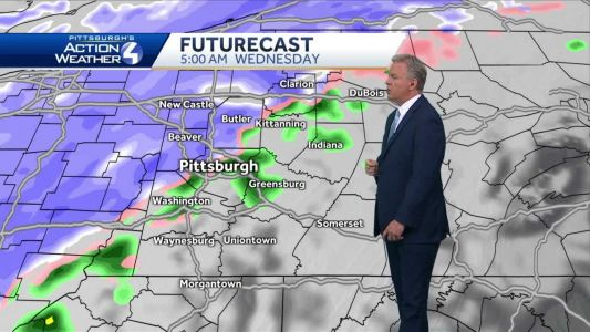 Rain and snow showers on Wednesday
