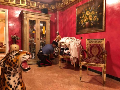 Inside the gold-coated home of Italy's feared Casamonica mafia