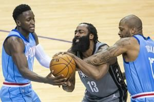 James Harden has triple-double in Houston return, Nets roll