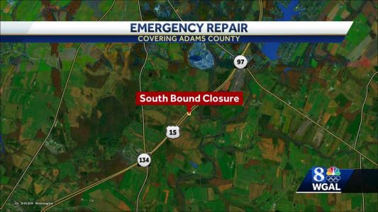 Part of Route 15 will be closed next week for emergency pipe replacement