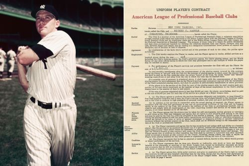 MLB contracts signed by Mickey Mantle, Hank Aaron up for auction