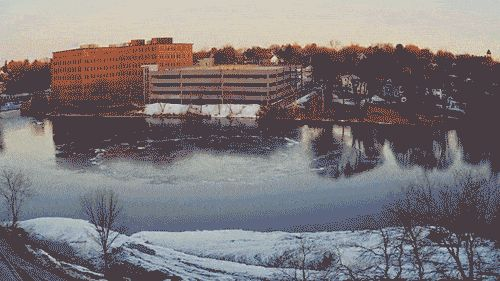Ice Disk 2.0? It looks like a new spinning phenomenon is forming in Maine
