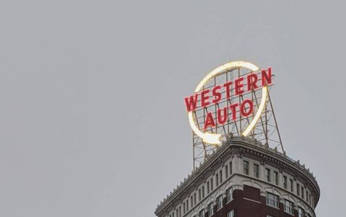 Iconic Western Auto sign to remain on all day Sunday in support of Chiefs
