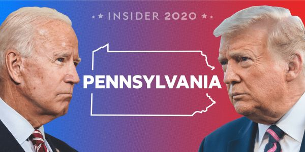 Where Biden and Trump stand in Pennsylvania in the polls 3 days out from the election