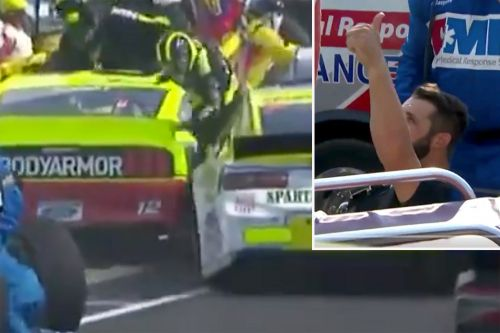 What happened behind the scenes during scary NASCAR pit road incident