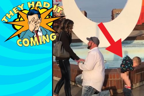 Toddler tinkles during marriage proposal and other hilarious fails