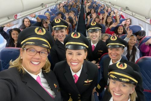 Delta flies 120 young girls to NASA to celebrate Girls in Aviation Day