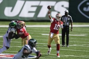 Banged-up 49ers prepare for Giants without Garoppolo