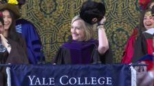 Hillary Clinton Tips A Russian Hat At Trump During Yale Commencement Speech