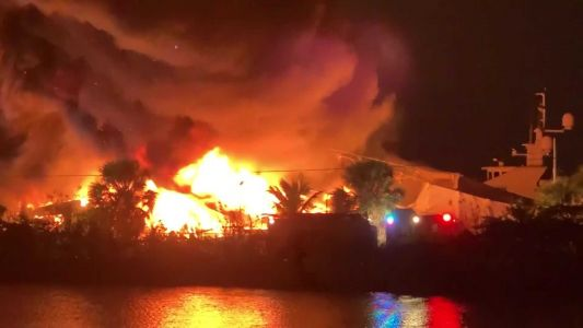 VIDEO: 2 yachts worth over $20 million destroyed in fire