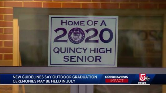 New Massachusetts guidelines allow outdoor graduations in mid-July