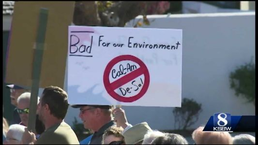 Protest and rally in front of city hall decries CalAm desal plant