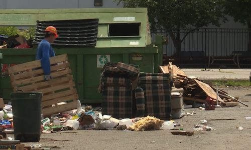 Trash, waste overflows at Omaha recycling sites