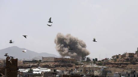 Saudi-led coalition in Yemen launches airstrikes on Houthi-held capital Sanaa - report