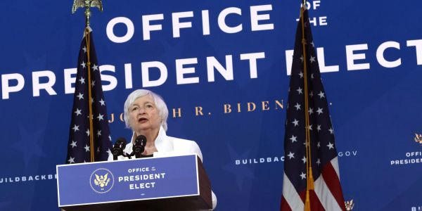 Biden's Treasury pick Janet Yellen will urge Congress that now is the time to 'act big' on a stimulus package - and warns of a more painful recession without it
