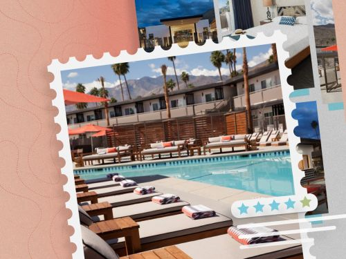 The V Palm Springs is a design-forward boutique hotel you can usually book for under $100 a night - even on holidays