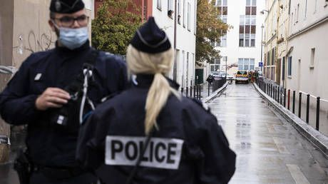 French police officer fatally stabbed, suspect shot dead at the scene