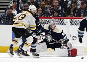 Merzlikins, Jackets blank Bruins; Rask injured