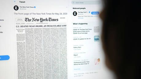 NYT includes MURDER VICTIM in controversial front page list of Covid-19 deaths