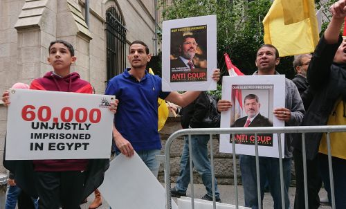 Egyptian politics play out in dueling marches in midtown Manhattan