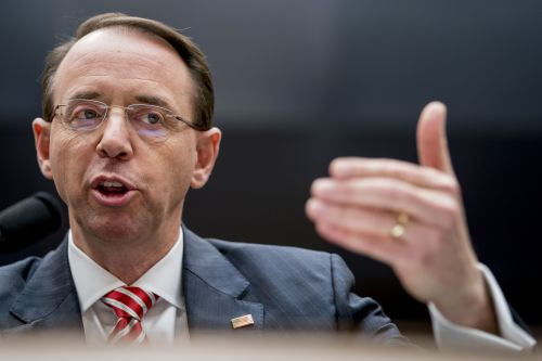 Watch: Deputy Attorney General Rod Rosenstein makes a 'law enforcement announcement'
