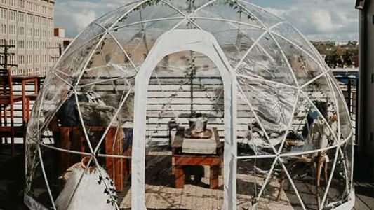 Northern Kentucky brewery adds heated igloos to rooftop bar