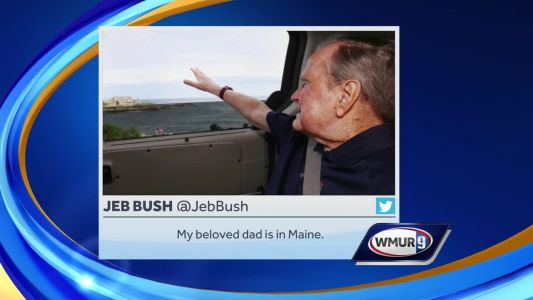 Former President George H.W. Bush visits Maine for 1st time since wife's death, his hospitalization