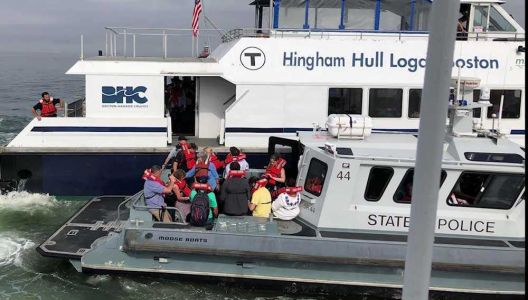 MBTA ferry runs aground in Boston Harbor; 4 injured