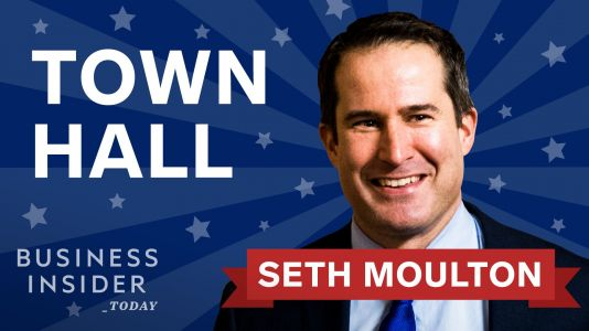 Democratic candidate Seth Moulton joins Business Insider Today for a live town hall - here's how to watch