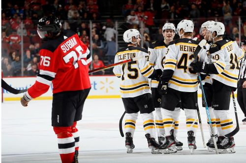 Devils' mini win streak snapped in ugly loss to Bruins