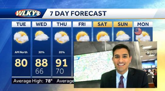 Shower chances for some Tuesday