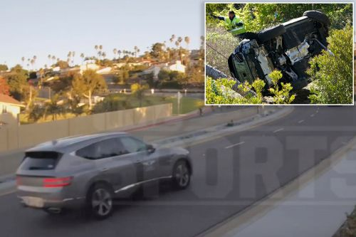 Video shows Tiger Woods driving minutes before near-fatal California accident
