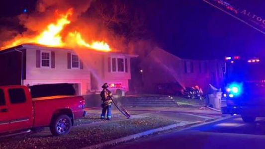 Crews battle overnight house fire in Pleasant Hill
