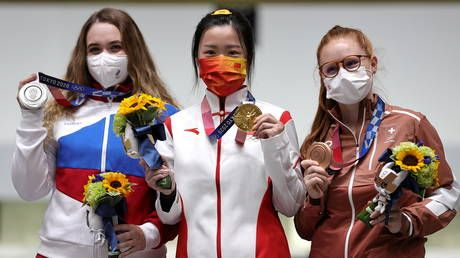 Chinese shooter Qian Yang narrowly beats Russia's Anastasiia Galashina & sets Olympic RECORD in battle for first Tokyo gold medal