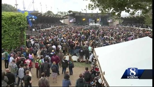 It's the 10th year the festival is put on, thousands from all over the world attend the music and arts fest