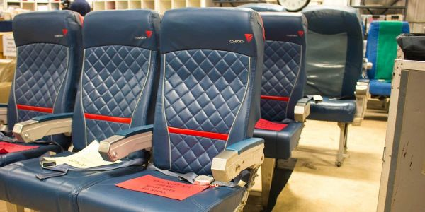 Delta has a monthly warehouse sale with everything from old seats to airplane toilets - here's all the vintage aviation gear you can buy