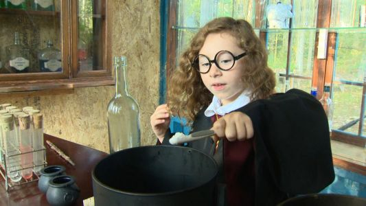 Recycled wizarding world in backyard raises funds for Hurricane Florence victims