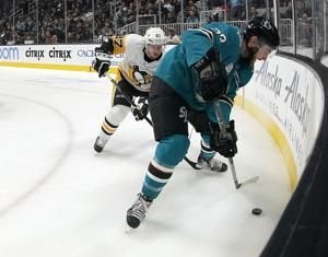 Hertl's hat trick leads Sharks past Penguins 5-2
