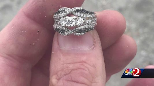 'I thought it was lost forever': Man finds wedding ring woman lost at Florida beach