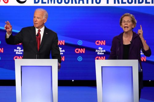 Warren and Biden stop playing nice as she zooms in the polls